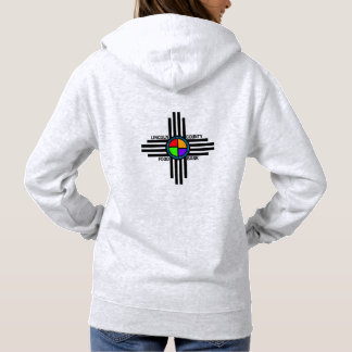 Women's Basic Hooded Sweatshirt logo on back