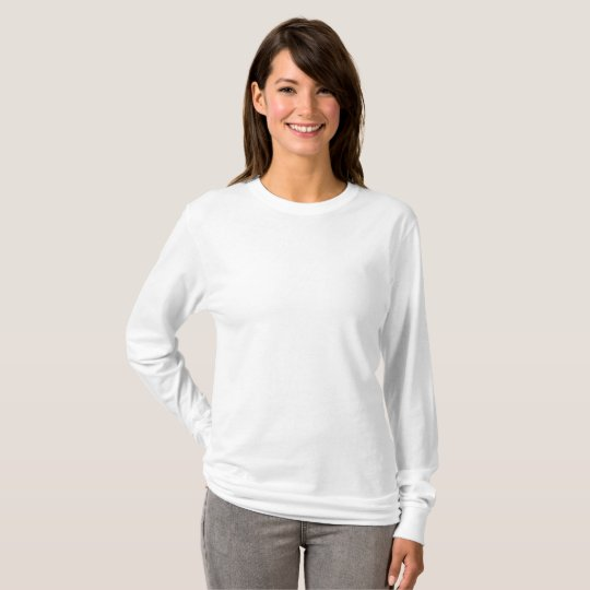 Basic Long Sleeve T-Shirt, White