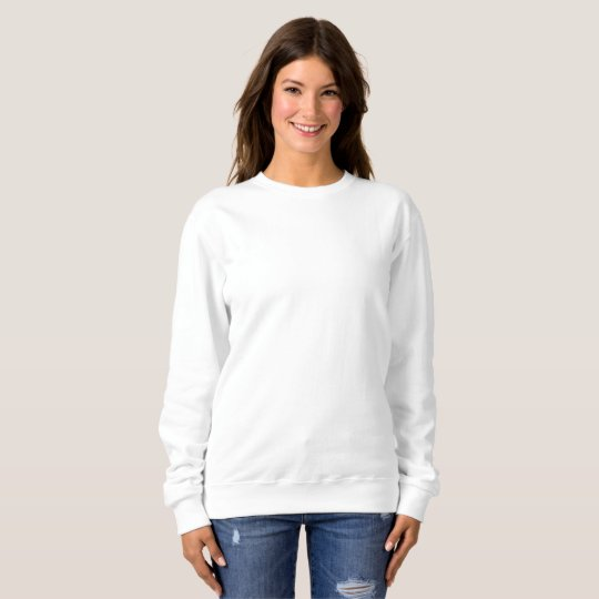 Women's Basic Sweatshirt, White