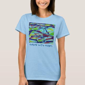 Women's Basic T-Shirt: Chaos into Form Art / Text T-Shirt
