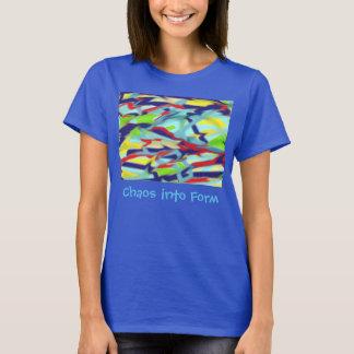 Women's Basic T-shirt: Chaos into Form Blue T-Shirt