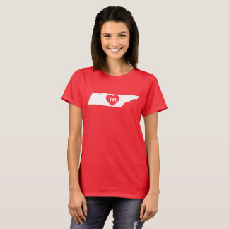 Women's Basic T-Shirt I Love Tennessee State