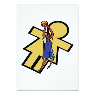 Womens Basketball 13 Cm X 18 Cm Invitation Card