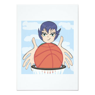 Womens Basketball 13 Cm X 18 Cm Invitation Card