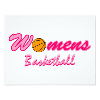 Women's Basketball Logo 11 Cm X 14 Cm Invitation Card