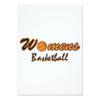 womens basketball logo graphic 13 cm x 18 cm invitation card