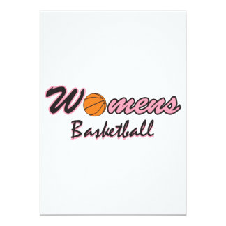 womens basketball logo graphic pink 13 cm x 18 cm invitation card