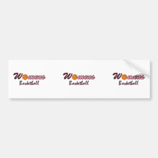 womens basketball logo graphic pink bumper sticker