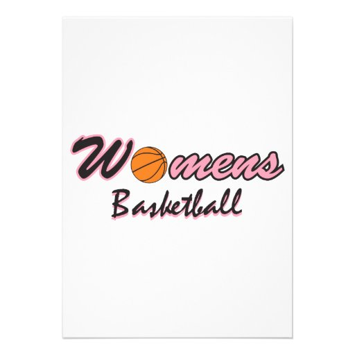 womens basketball logo graphic pink personalized announcement