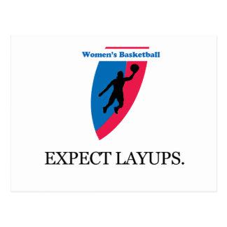Women's Basketball Postcard