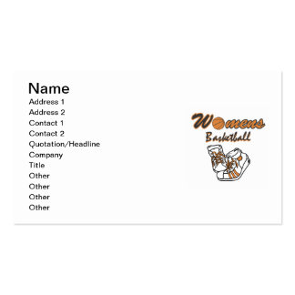 Women's Basketball Shoes T-shirts and Gifts Pack Of Standard Business Cards
