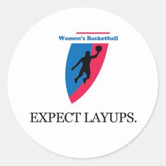 Women's Basketball Round Stickers