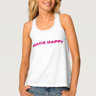 "Women's ""BEACHHAPPY"" Racerback Tank Top"
