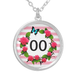 Womens Beautiful Rose 50th 60th 70th 80th Birthday Silver Plated Necklace