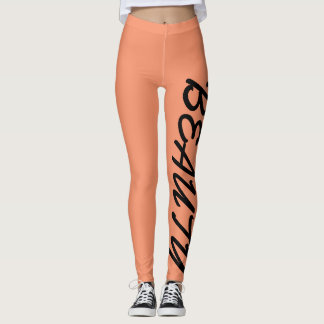 "Women's ""Beauty/Beast"" workout leggings"