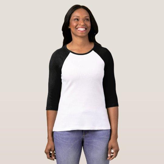 Bella+Canvas 3/4 Sleeve Raglan T-Shirt, White/Black