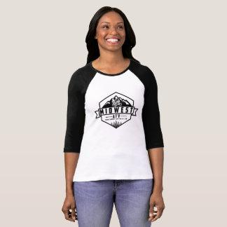 Women's Bella Canvas 3/4 Sleeve With Logo T-Shirt