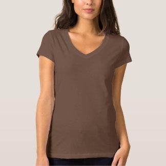 Women's Bella+Canvas Jersey V-Neck CHOCOLATE T-Shirt
