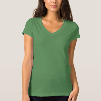 Women's Bella+Canvas Jersey V-Neck GREEN LEAF T-Shirt