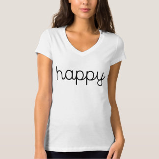 Women's Bella+Canvas Jersey V-Neck T-Shirt HAPPY