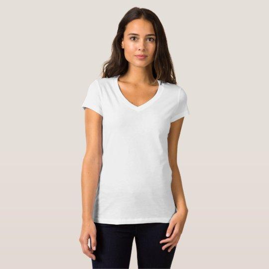 Women's Bella Jersey V-Neck T-Shirt, White