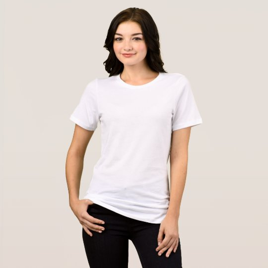 Women's Bella+Canvas Relaxed Fit Jersey T-Shirt, White
