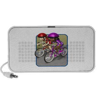 Womens Bike Race Laptop Speakers