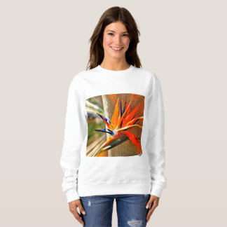 "Women's ""Bird of Paradise"" White Sweat Shirt"