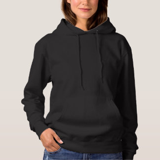 Women's Black Basic Hooded Sweatshirt