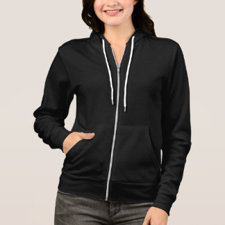 Women's Black Full-Zip Hoodie