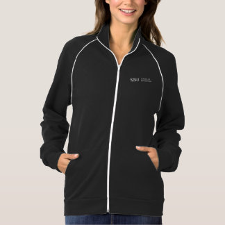 Women's Black/White Jacket - white iSchool logo
