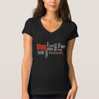 Women's BlogathonATX V-Neck T-shirt - Black