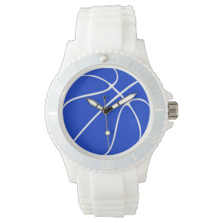 Women's Blue Basketball Wrist Watch