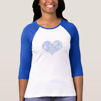 Women's Blue Heart Baseball Tee