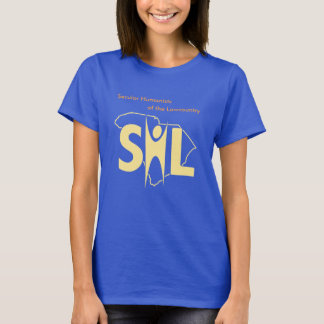 Women's Blue SHL T-shirt with URL