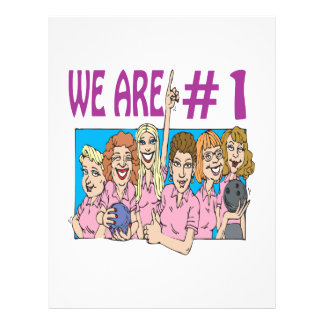 Womens Bowling Team Personalized Flyer