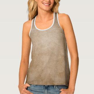 Women's Brown Textured Fall Tank Top