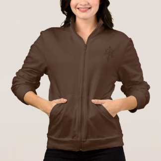 Women's butterfly American Apparel Fleece Zip Jog
