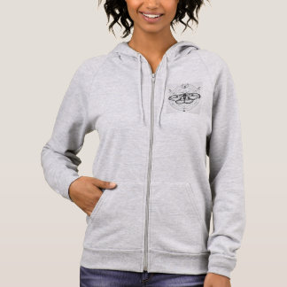Womens Butterfly Hoodie (zip up)