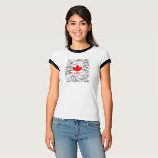 Women's Canada150 T-shirt with black trim