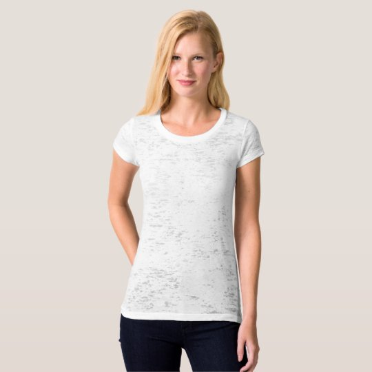 Women's Canvas Fitted Burnout T-Shirt, Vintage White