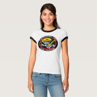 Women's Cat Patch Bella Ringer T-Shirt
