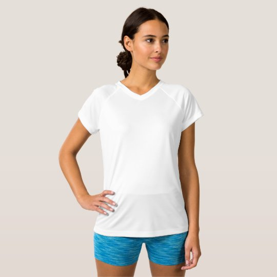 Women's Champion Double-Dry V-Neck T-Shirt, White