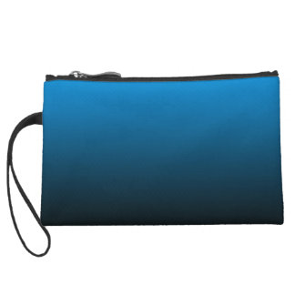 Women's Chic Abstract Blue Wristlet