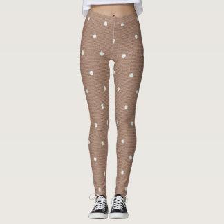 Women's Chocolate Polka Dot Leggings