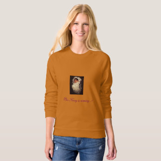 women's Christmas message sweatshirt
