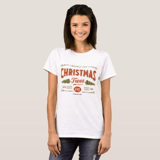 "Women's Christmas T-shirt ""Christmas Trees"""