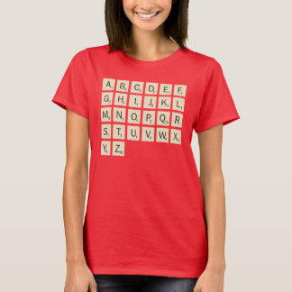 Women's Colored Personalized Scrabble T-Shirt