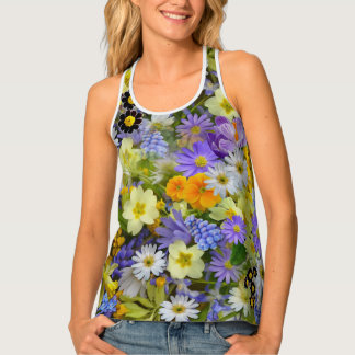 Women's Colorful Floral Tank Top