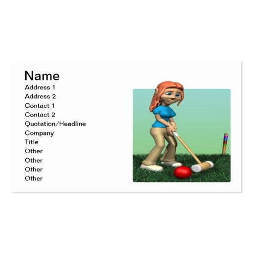 Womens Croquet Business Card Templates